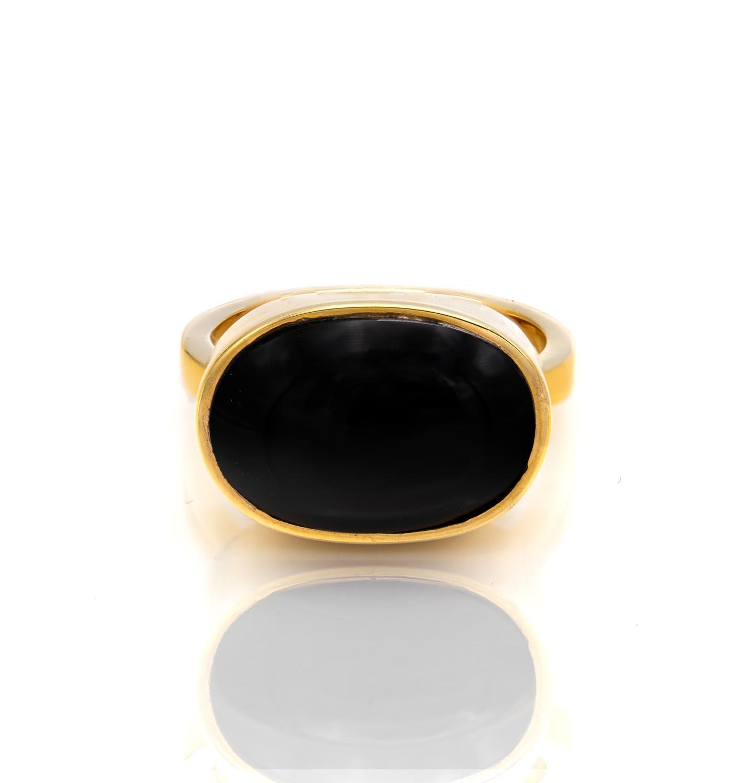 انگشتر طلا و اونیکس GQ10