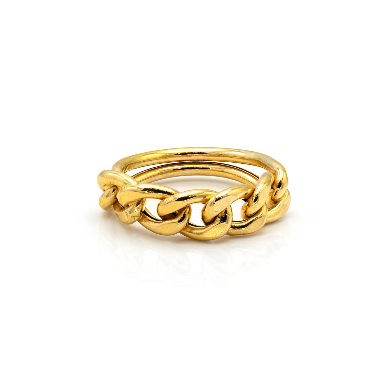 انگشتر طلا طرح زنجیر کد GE18